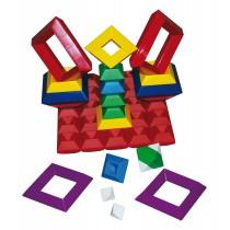 255-83 - Regenbogen Pyramide - 15teilig