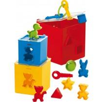 453-21 - Steckbox Eckig - 12teilige Box